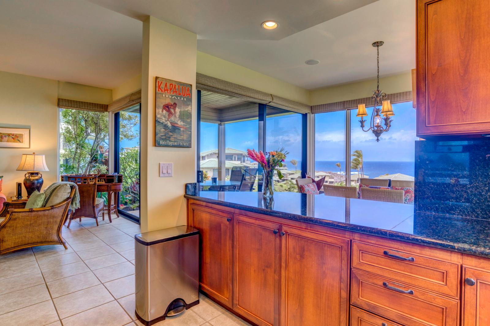 Endless ocean views from your luxury kitchen
