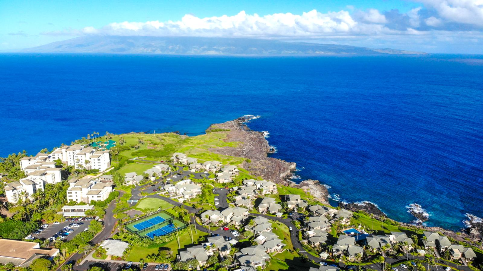 Stunning outer island views all along The Kapalua Coastal Trail