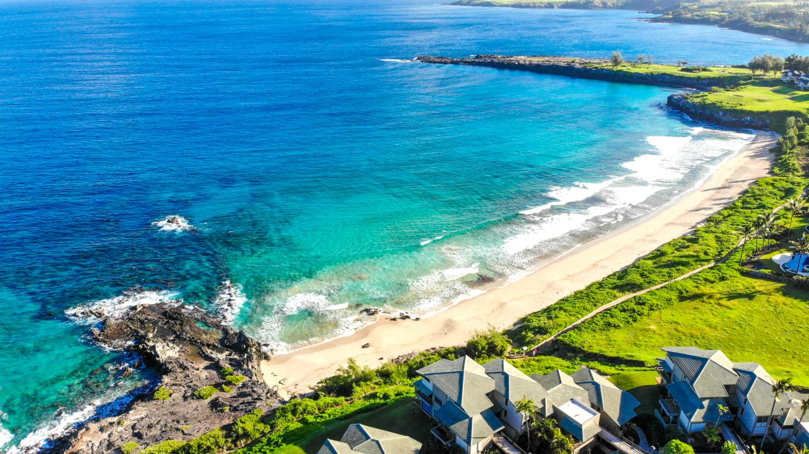 Birds eye view of The Kapalua Coastal Trail
