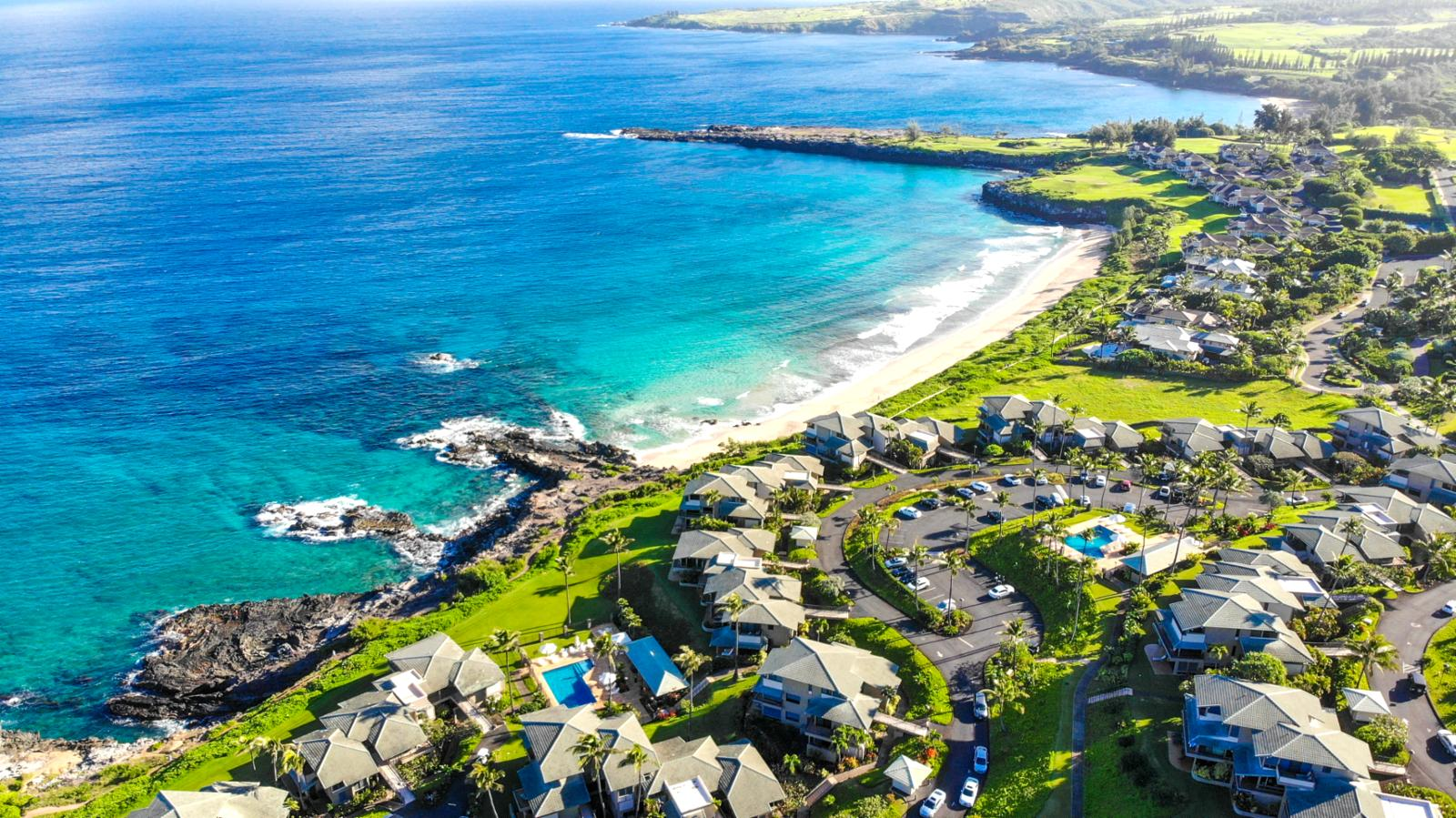 The world famous Kapalua Bay Villas! Birds eye view!