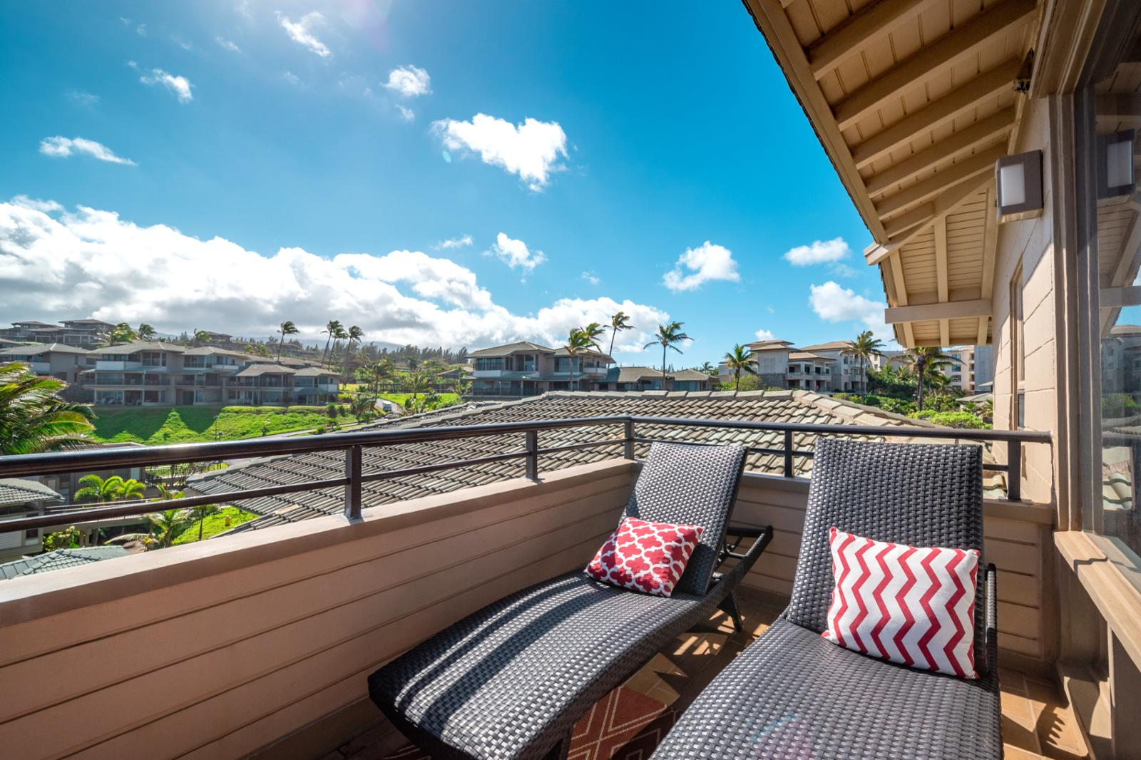 Sit back and relax on your private balcony