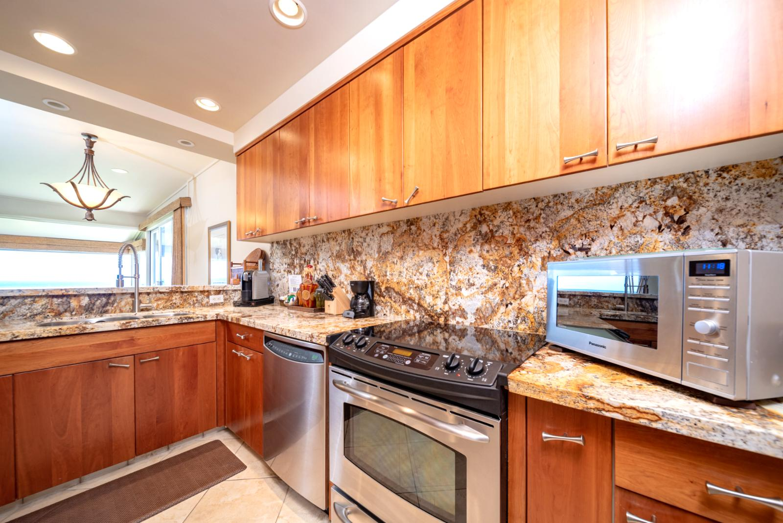 Ocean views from the kitchen!