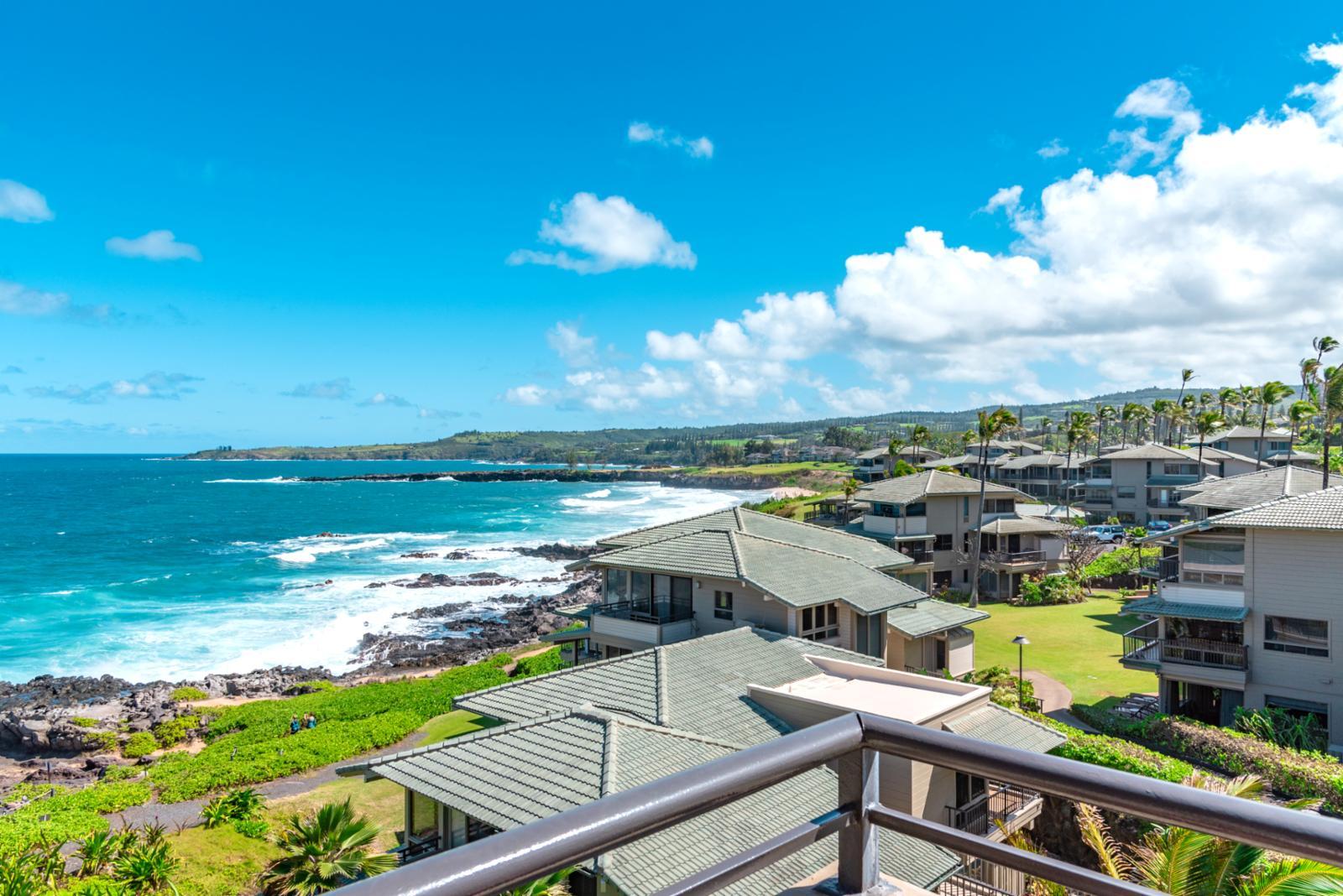 Panoramic views of the beautiful Kapalua Resort!