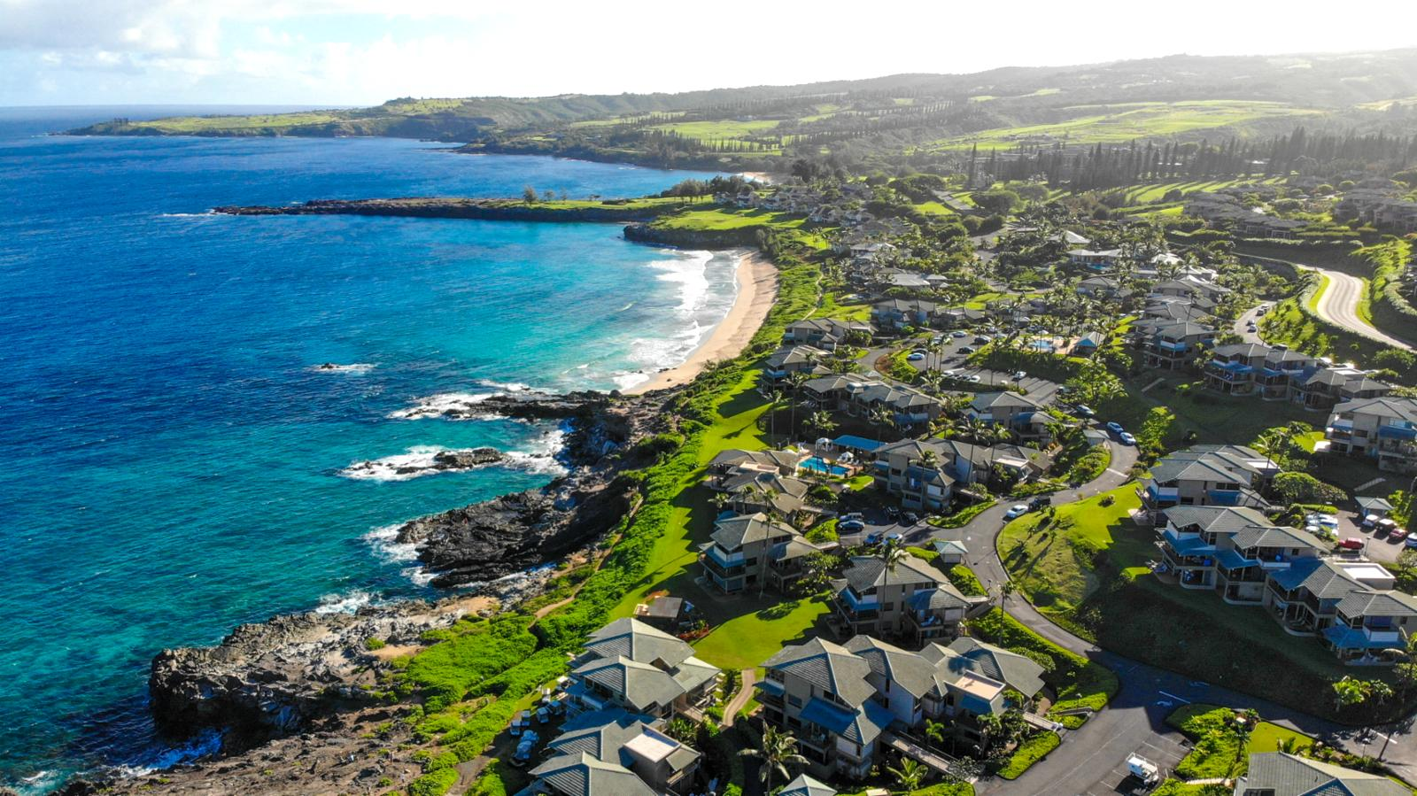 Birds eye view of the world famous Kapalua Bay Villas!