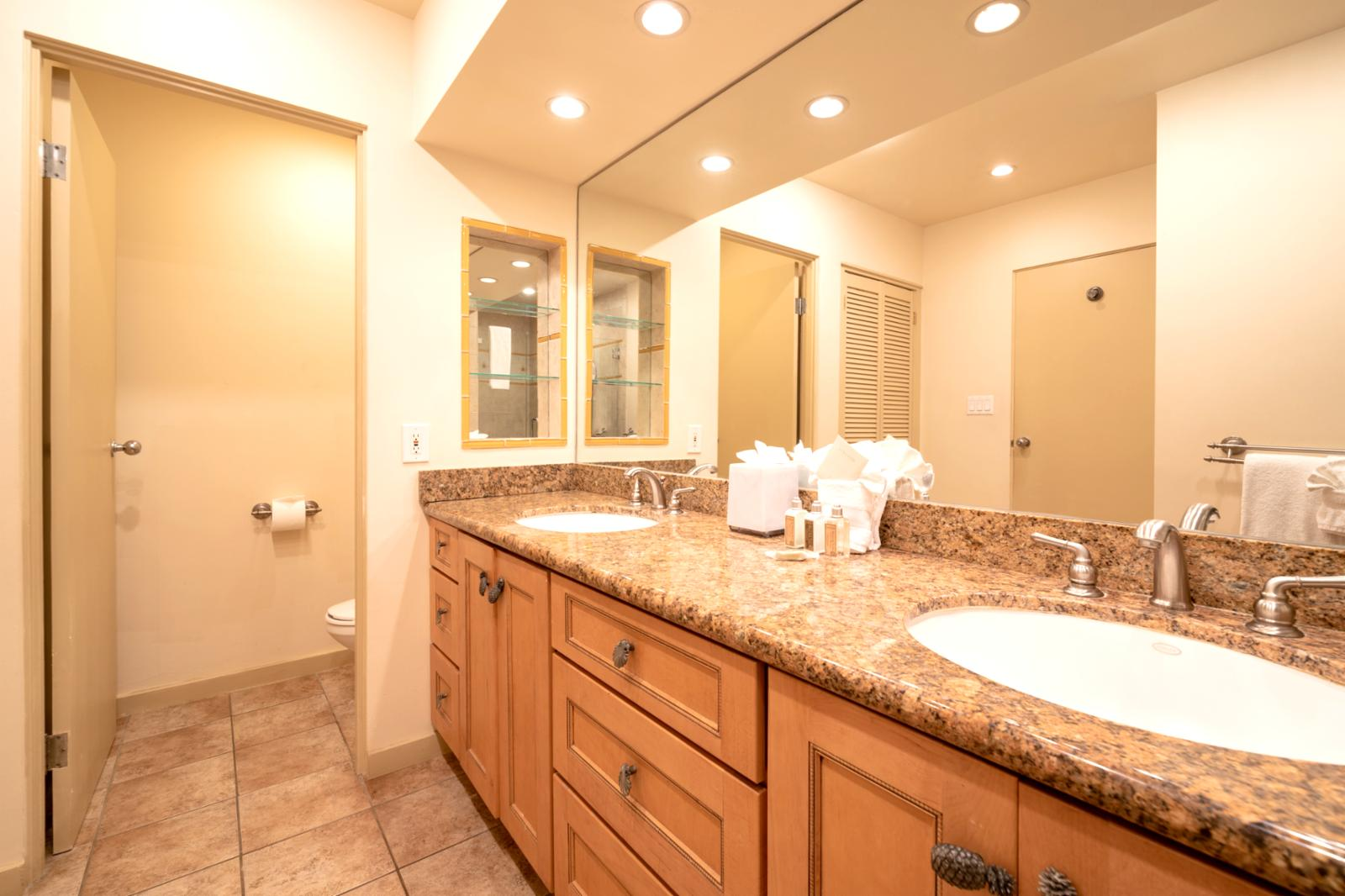 Custom interiors with dual sinks and upgraded lighting