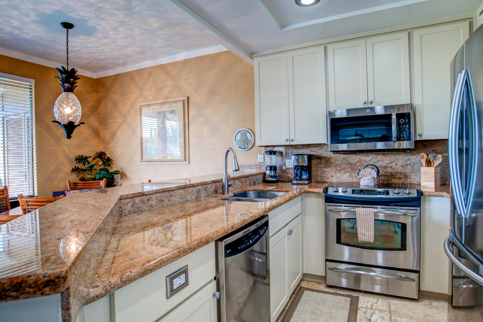 Newly upgraded stainless appliances throughout