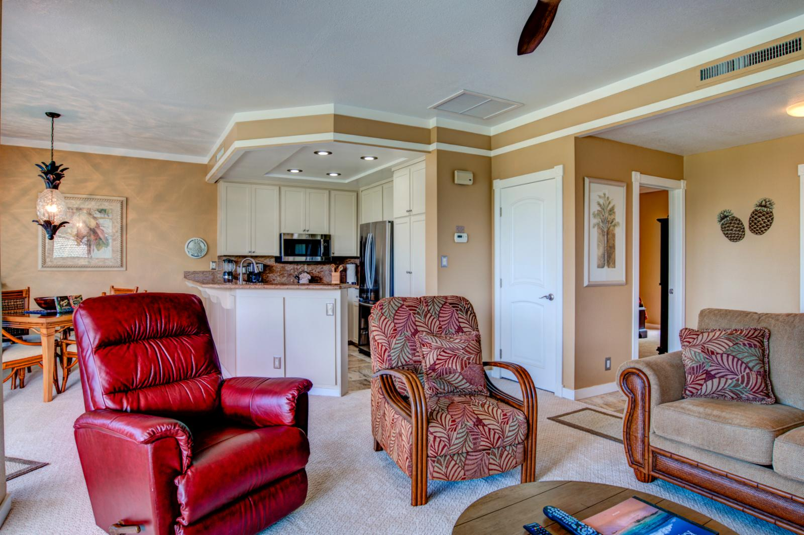 Comfortable seating with large layout