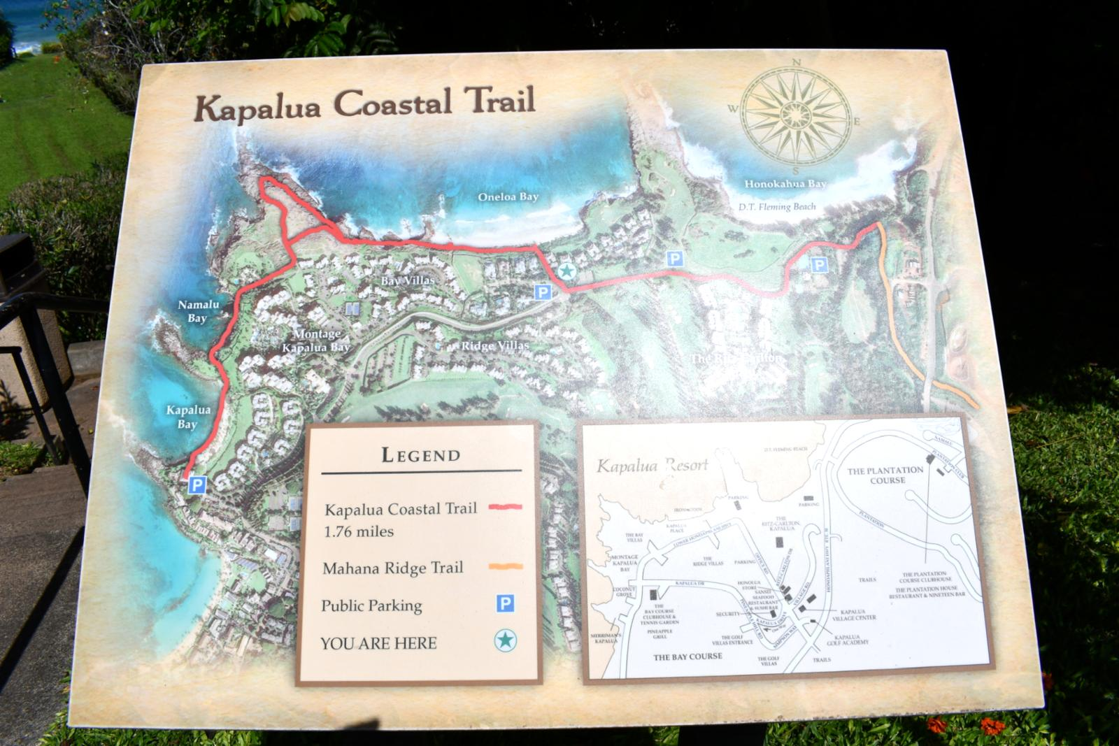 Kapalua Resort is filled with walking trails just steps from your door!