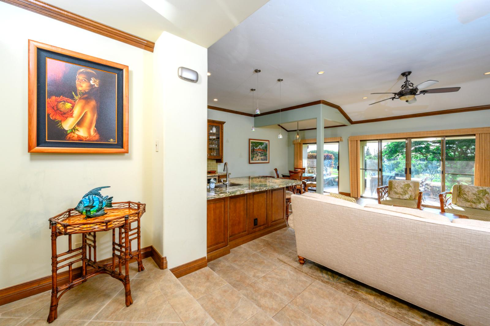 Living Room with excellent view of Lanai