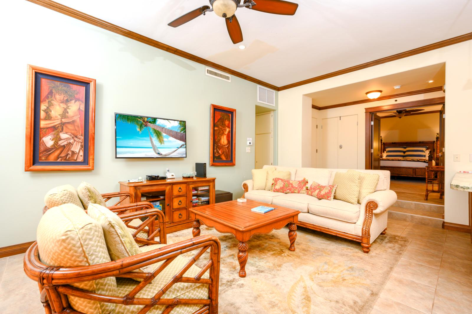 Living Room with ample seating