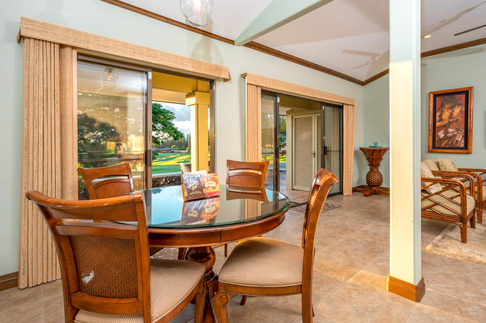 Dining Room with doors that walkout to Lanai