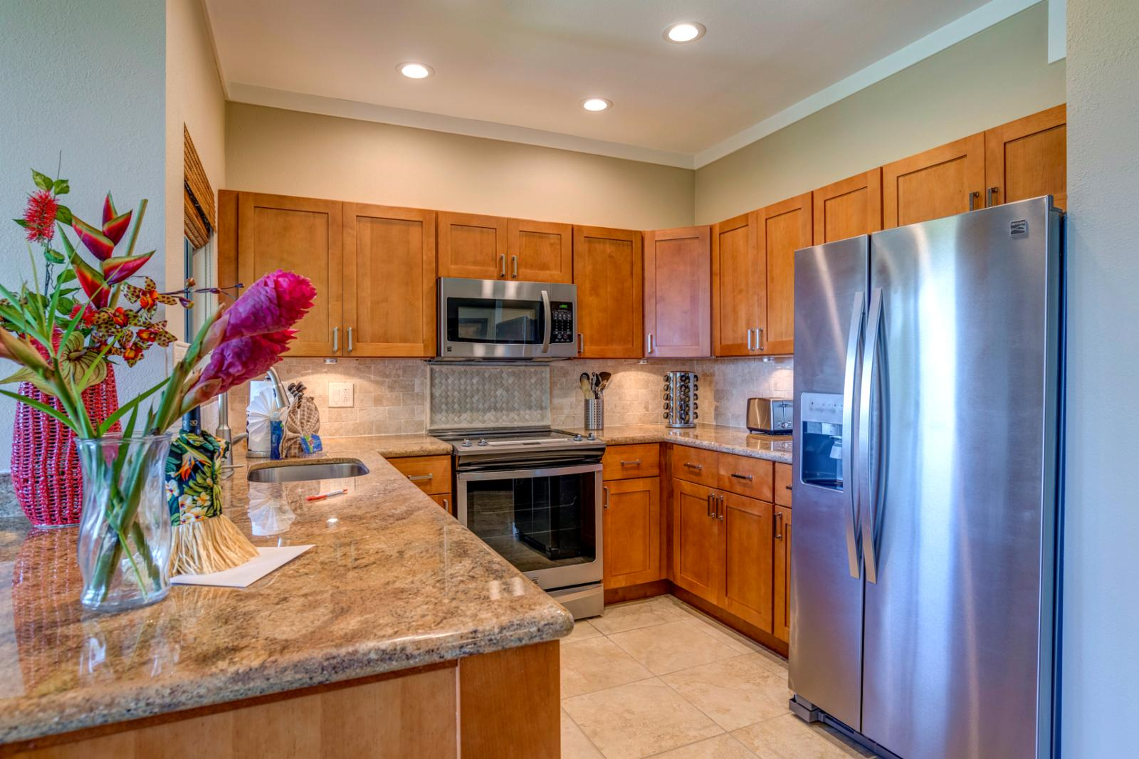 Stunning stainless appliances ready for your use, kitchen comes fully equipped