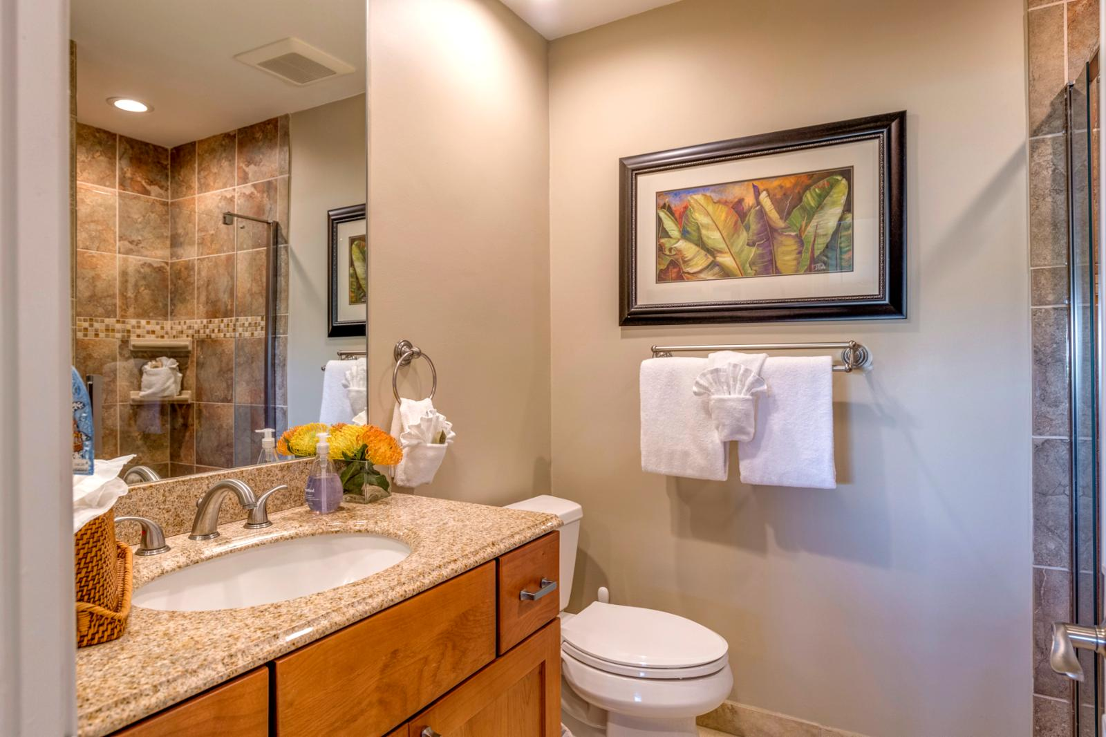 Luxury finishes and custom accents, single sunken sink