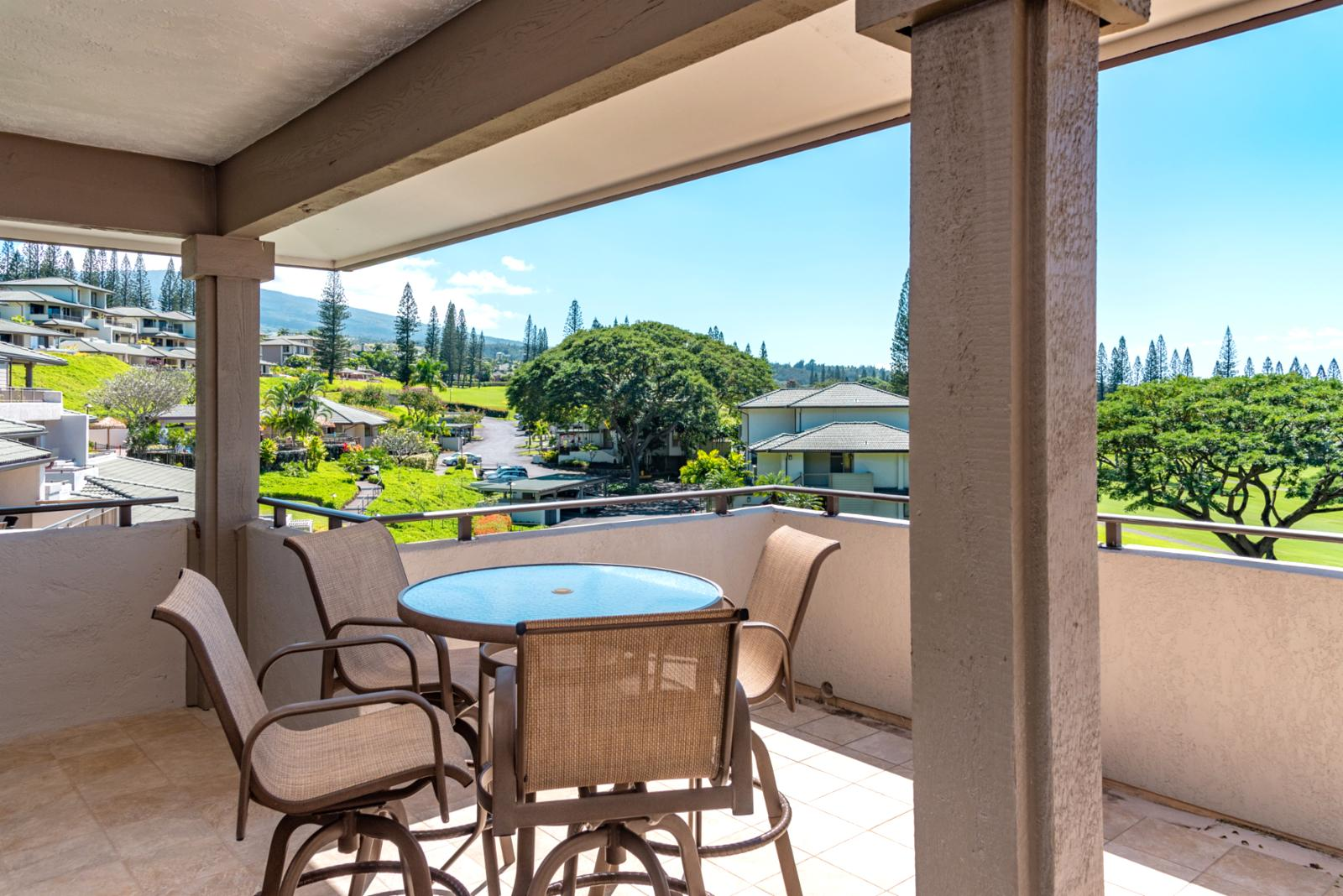 New furniture and plenty of views from your exclusive lanai