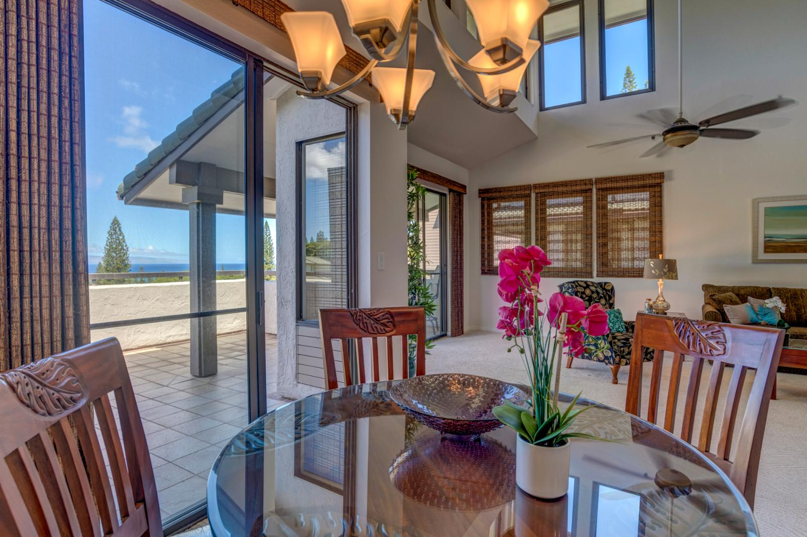 Bright exterior views of Kapalua