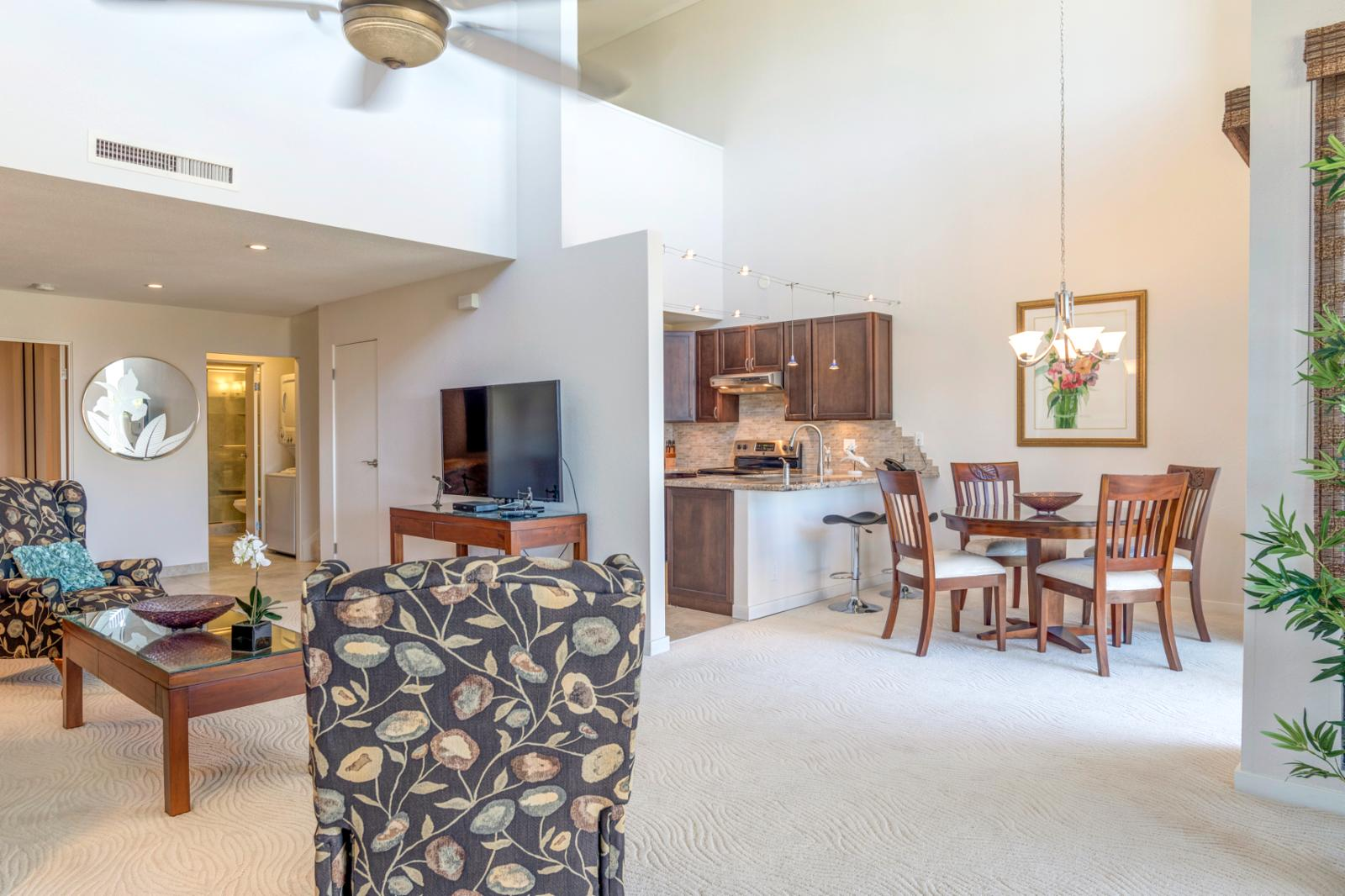 Oversized layout makes it perfect for families and to enjoy all that Kapalua has to offer