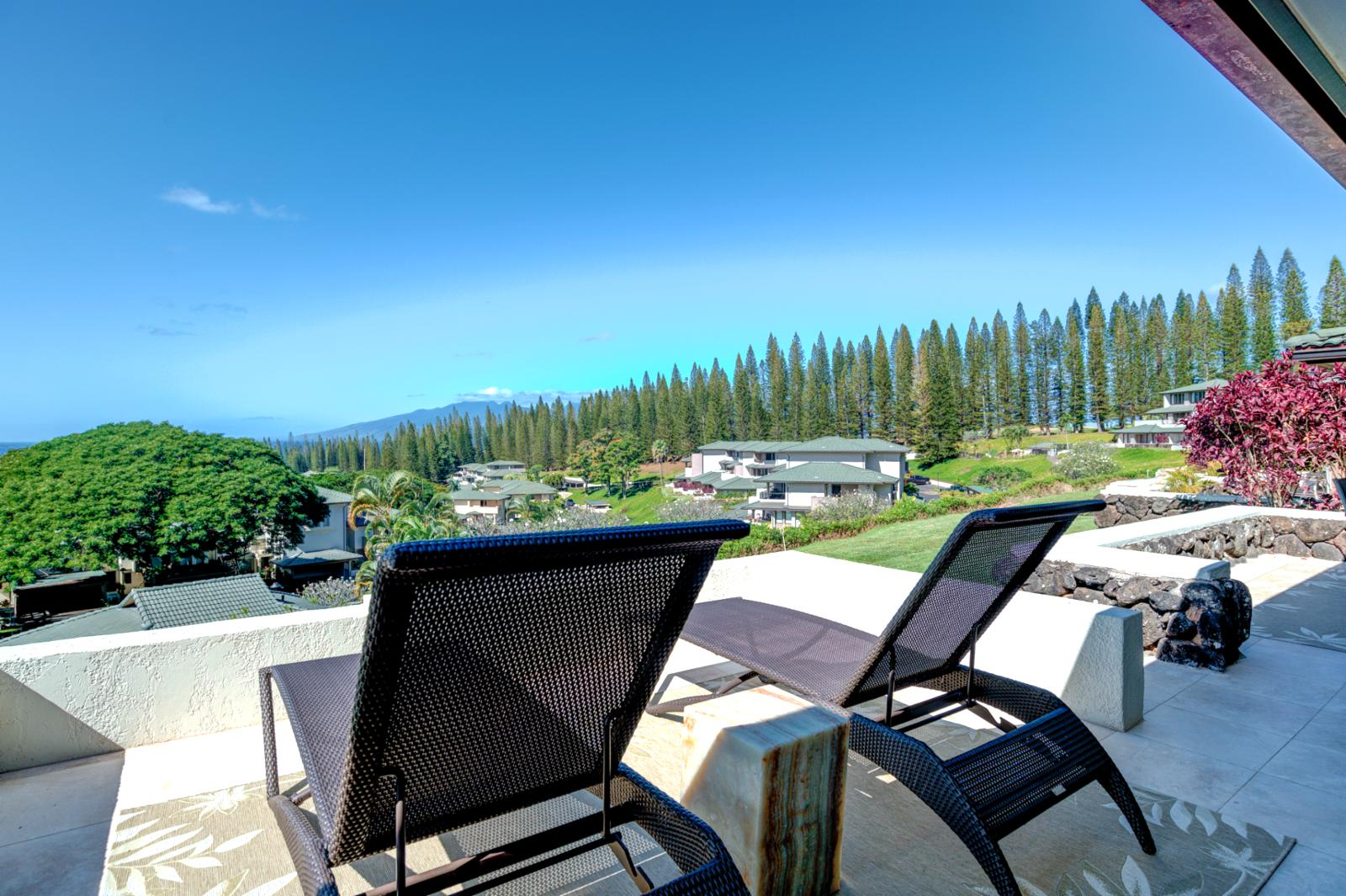 Stunning views of Molokai and resort grounds