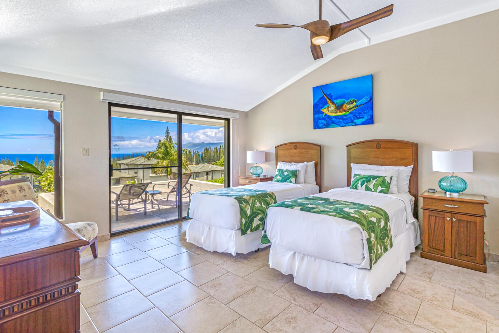 First floor bedroom sweeping ocean views.