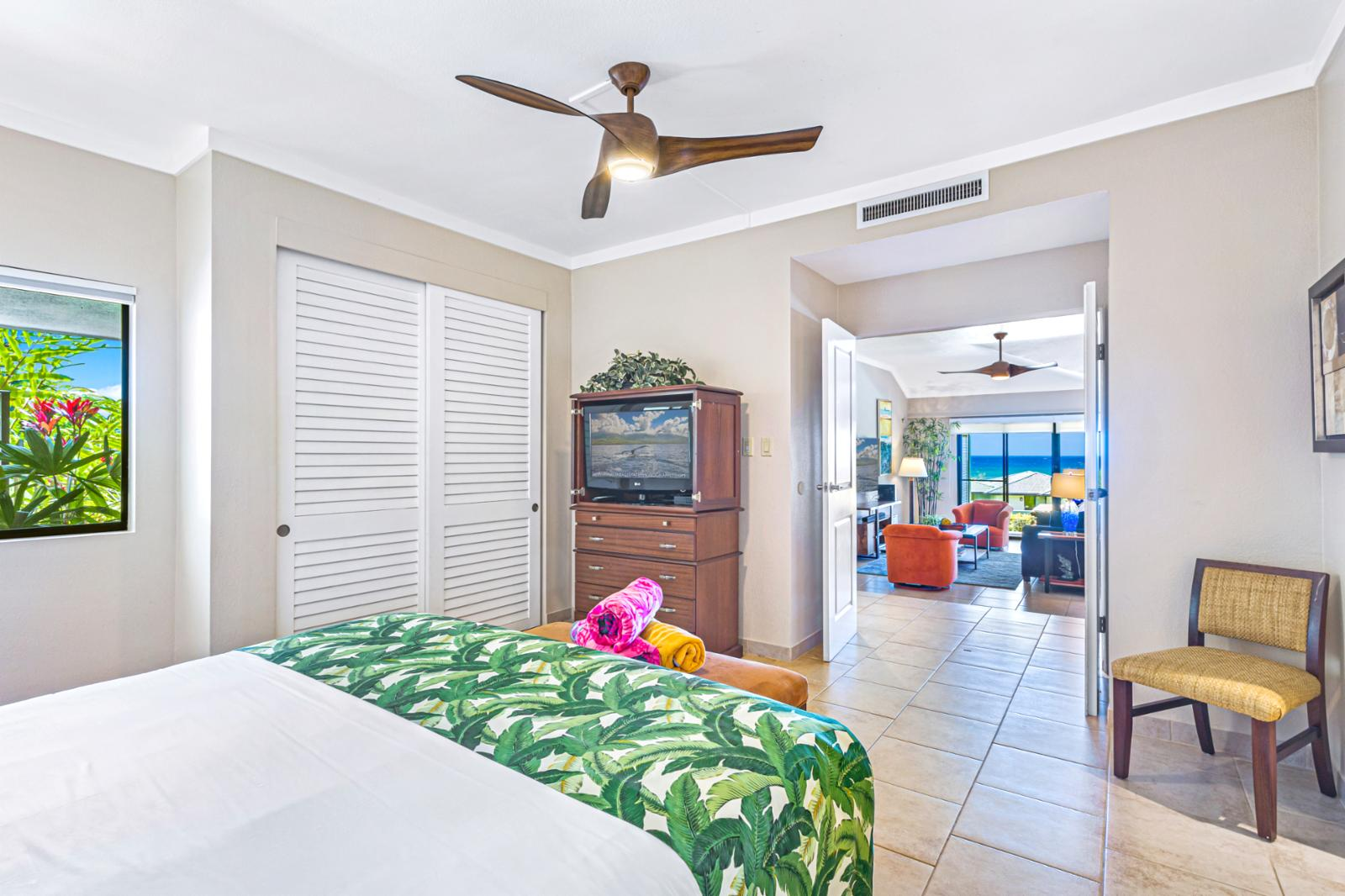 Easy access to the master bedroom from the living area.