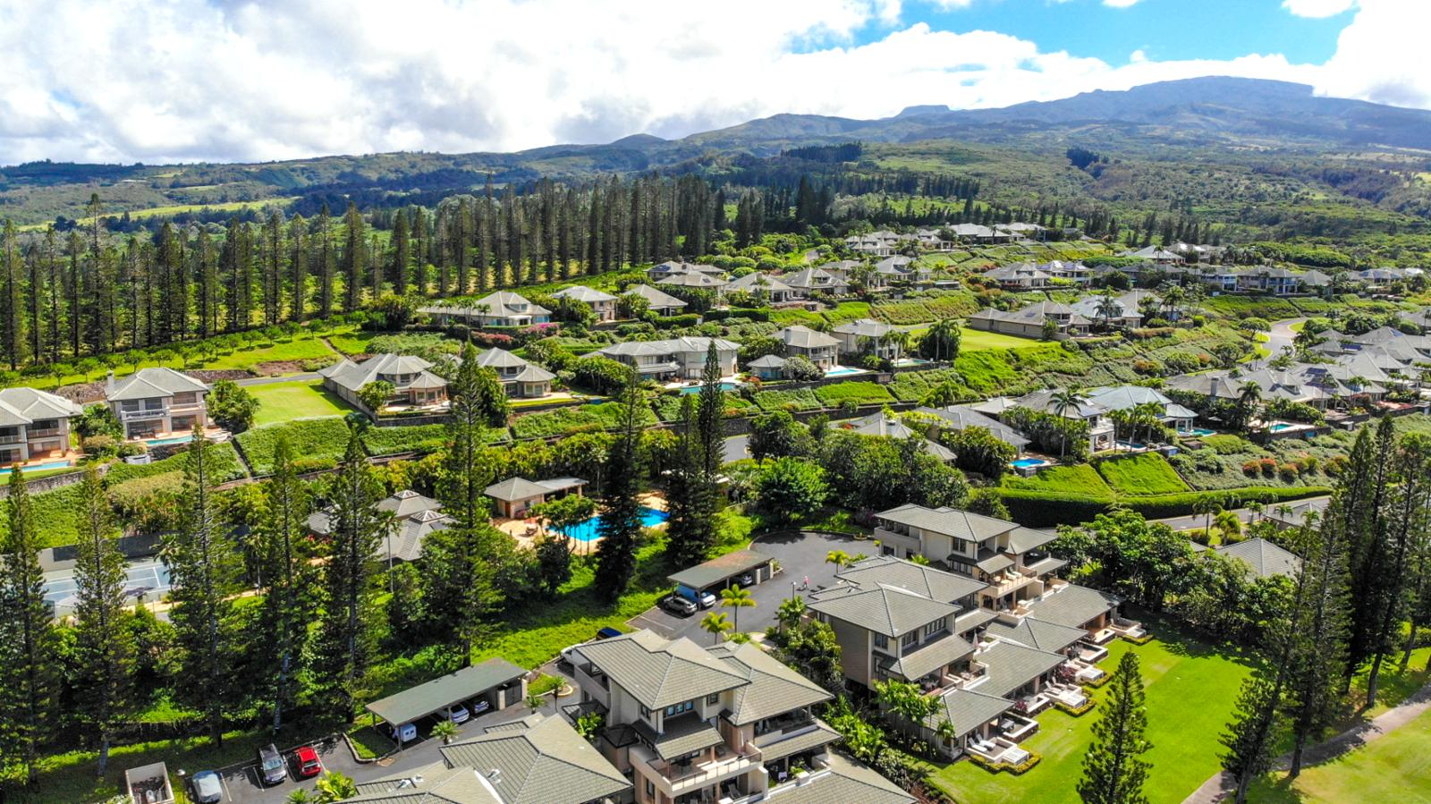 Welcome to the world famous Kapalua Resort Golf Villas! Aerial view