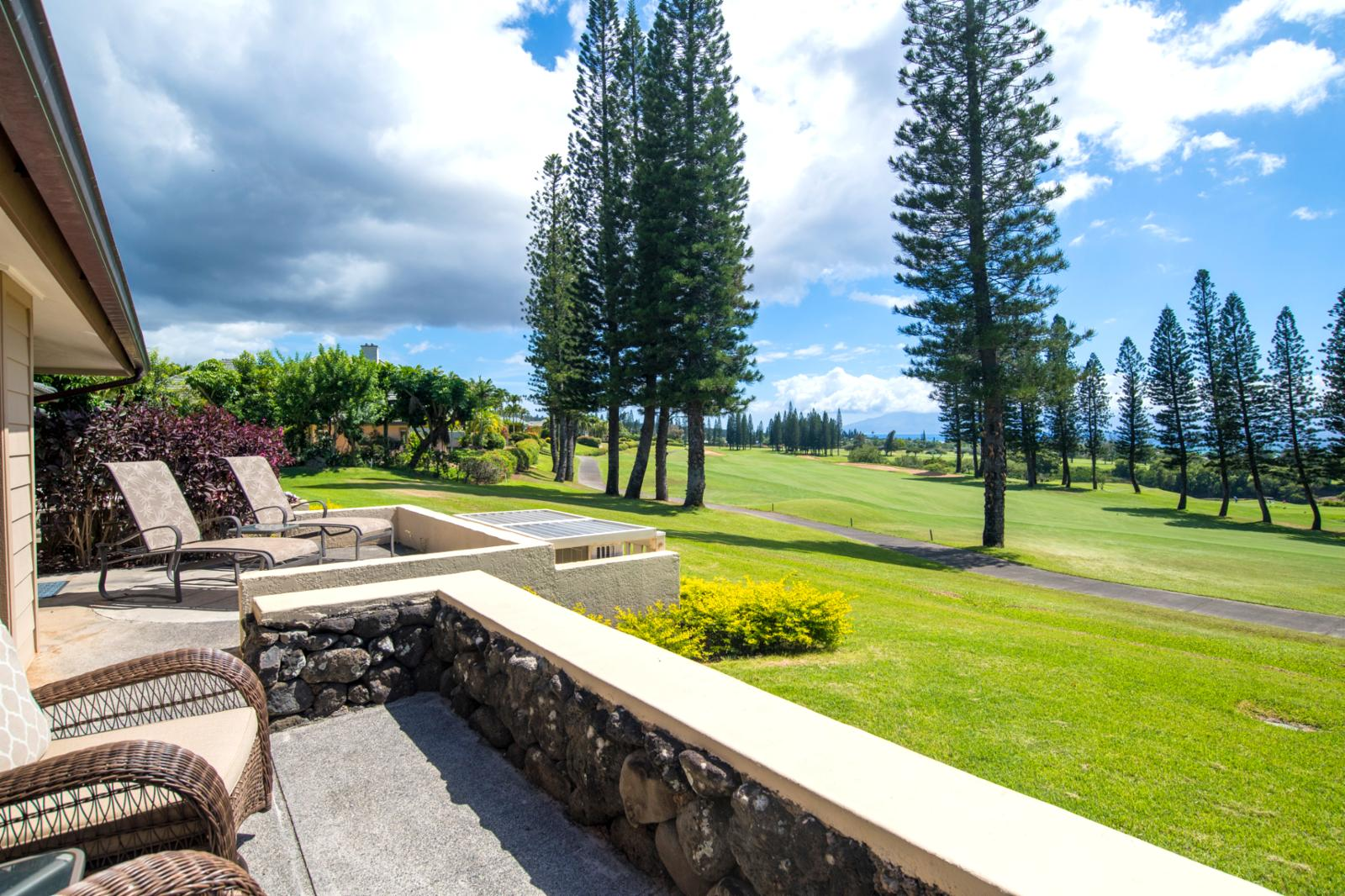 Jaw dropping views from this amazing rare location located right on the fairways!