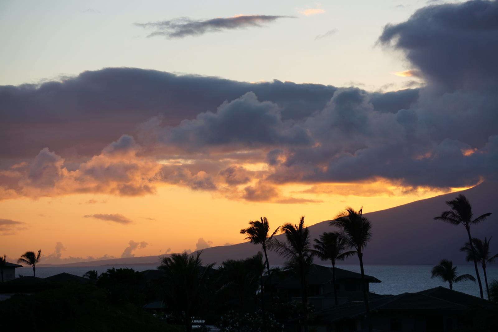 Nice sunset view from Kapalua Ridge Villa 224