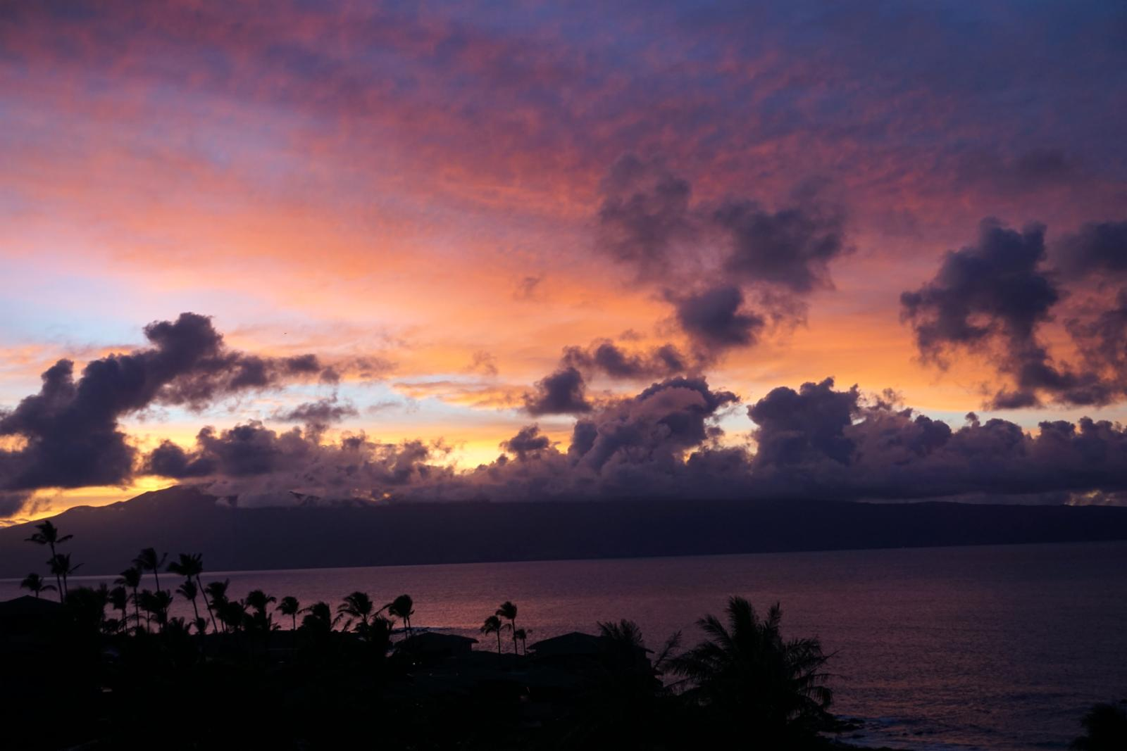 Sunsets are perfect from the lanai.