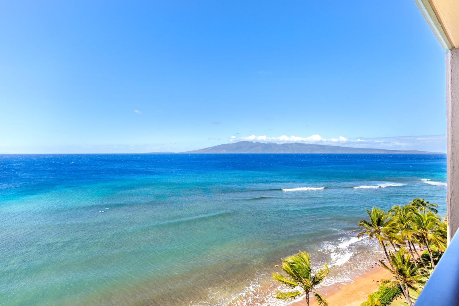 Unobstructed view of Molokai from your patio