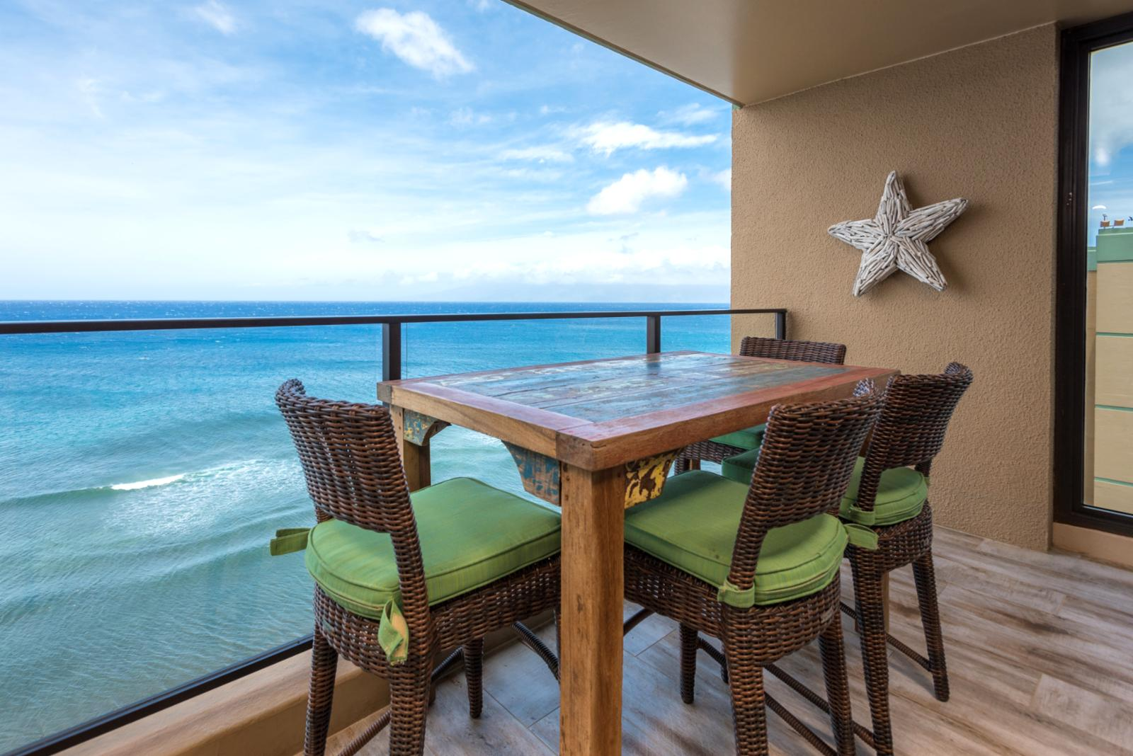 Outdoor seating - oceanfront sounds