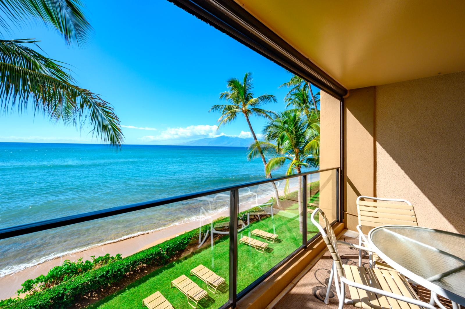 Endless sunsets and aqua marine views from this unit
