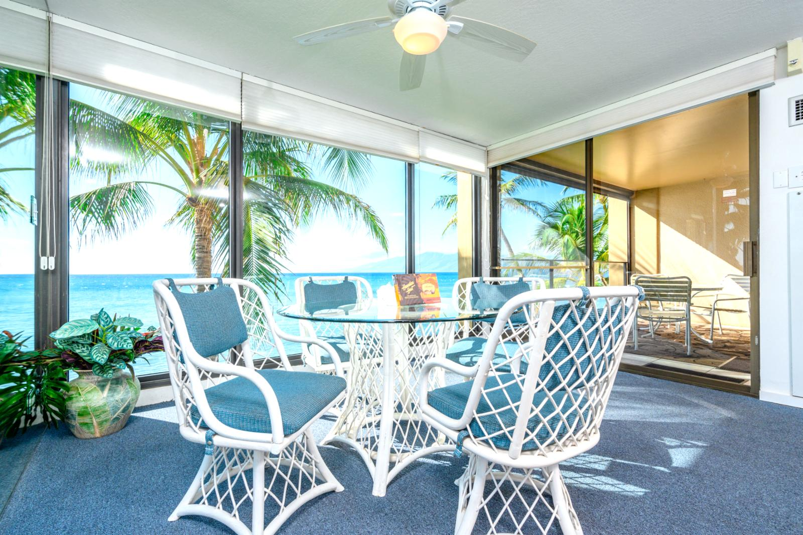 Center of it all, massive corner unit panoramic views of outer islands!