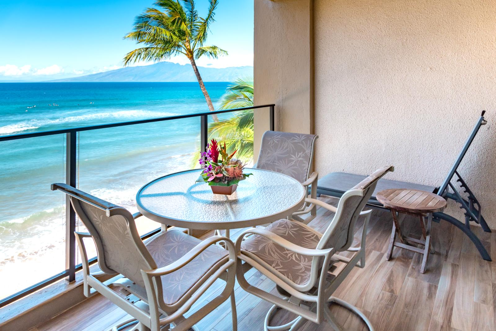 Upgraded flooring and alluring aqua marine views, this is Maui!