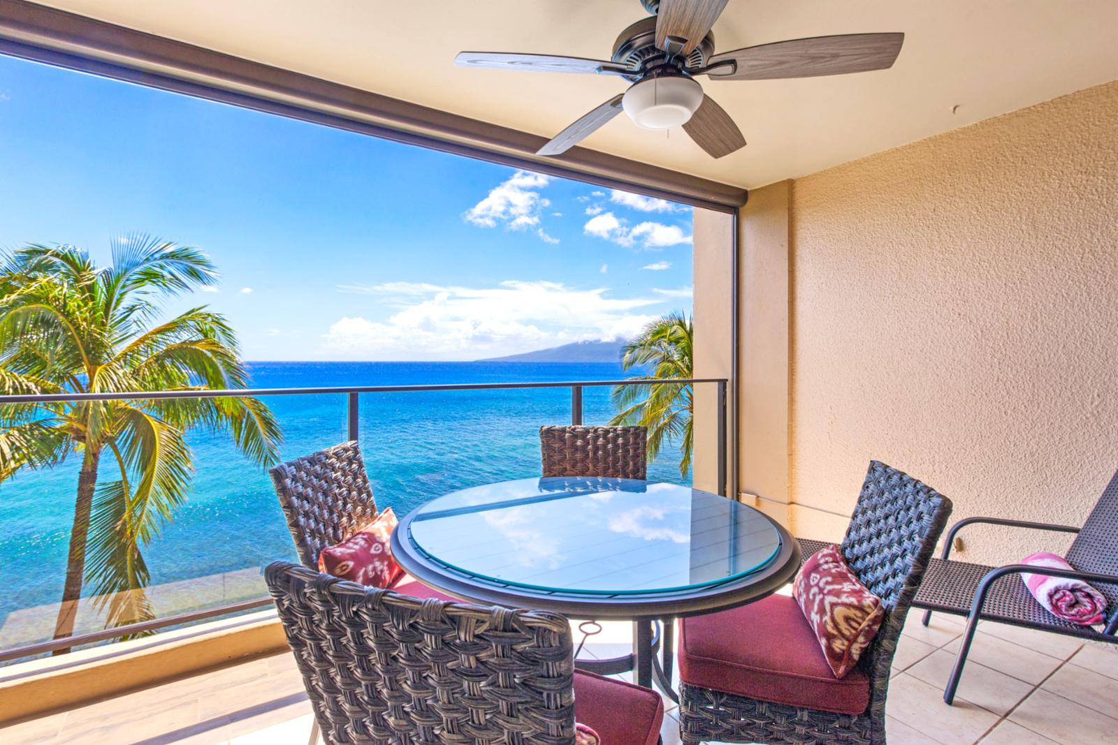 Crisp ocean breezes from your private balcony