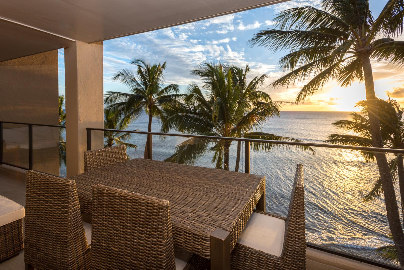 Stunning sunset views from your private balcony