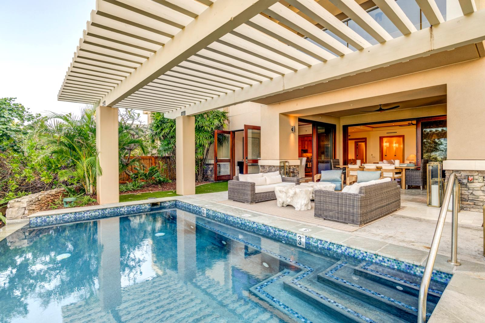 Private Pool and spa for your use. Currently the only villa at Montage with a private pool/spa.