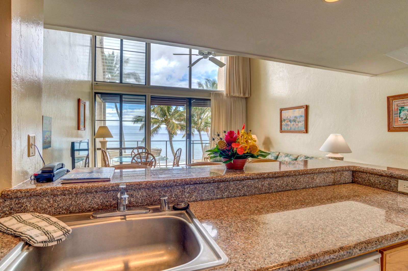 Ocean views and stunning sunsets nightly, perfect for families!