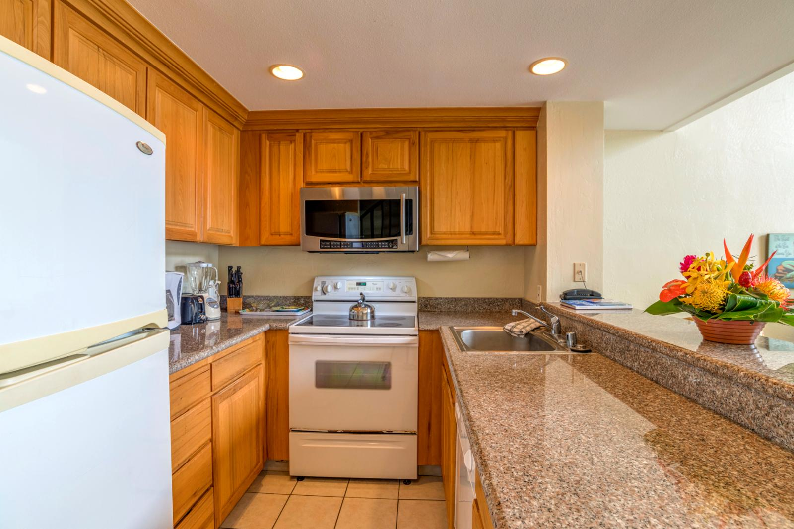 Generous layout and kitchen comes fully stocked ready for your use!