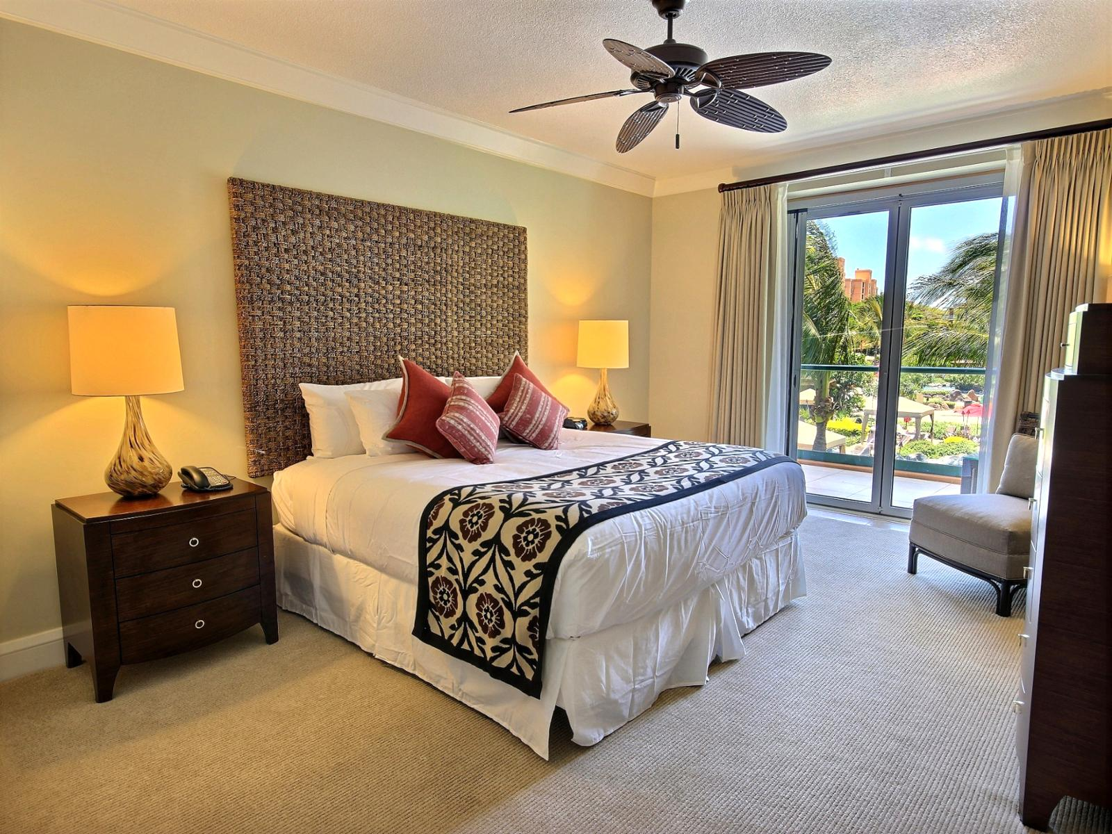 Spacious guest bedroom