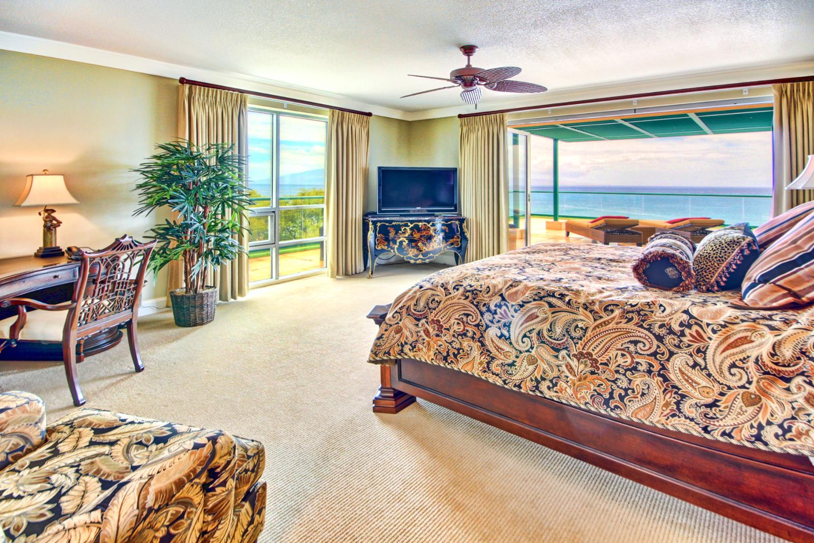Large master bedroom with unbelievable views.