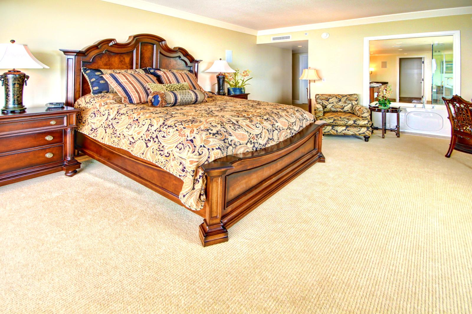 Custom furniture throughout this beautiful home. Large king size bed.