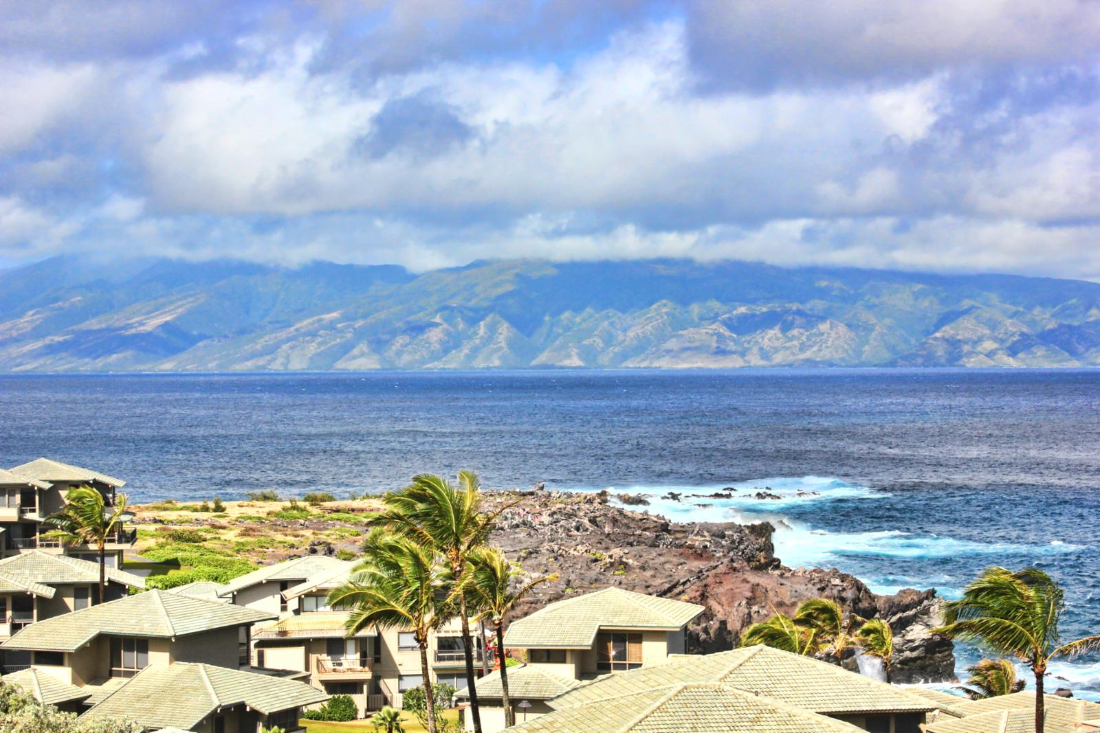 Views of Molokai are endless and when the whales are jumping you are going to spend the days just watching them play from this private villa.