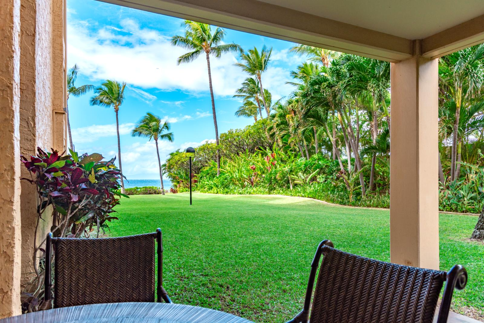 View from your private patio, welcome to The Polo Beach Club in Wailea!