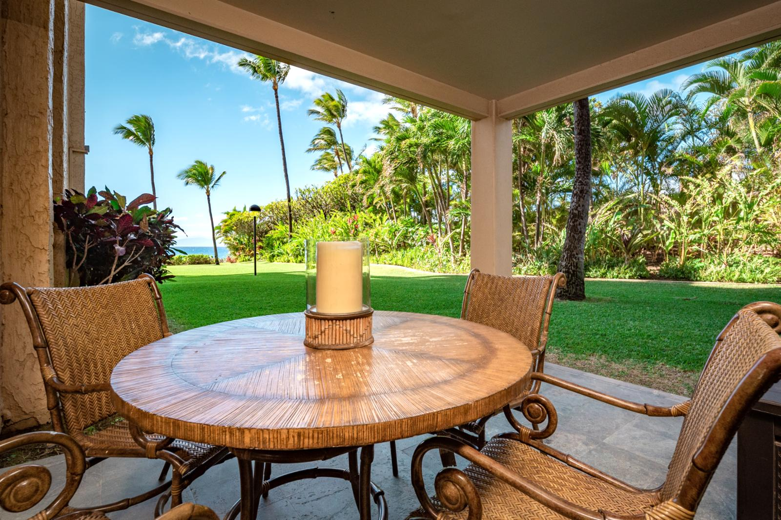 Enjoy nightly sunsets from your private ground floor lanai