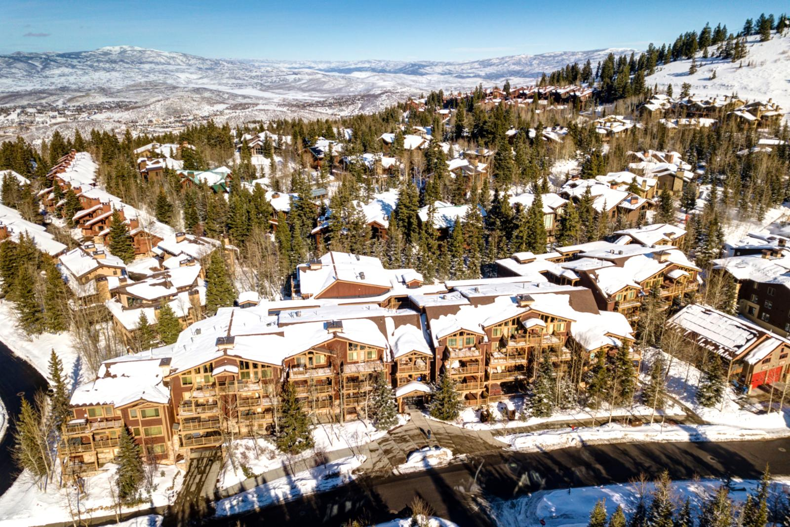 A birds eye view of the Black Bear Lodge