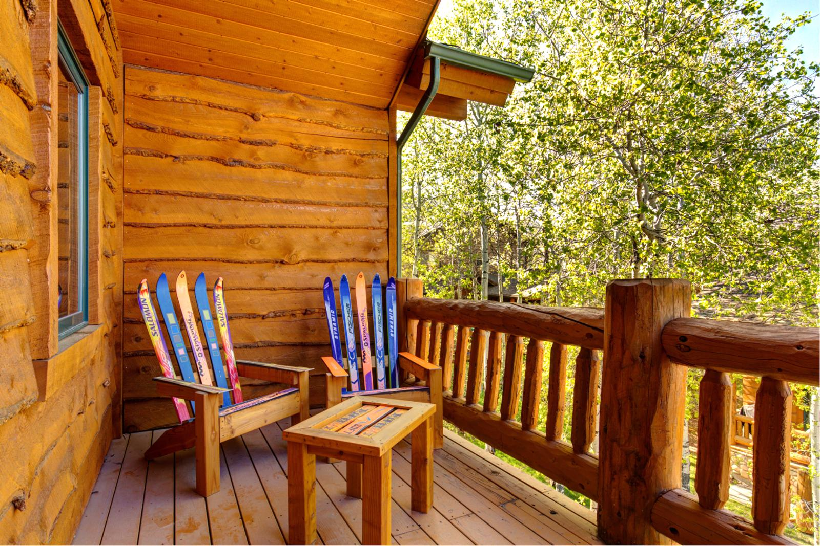Take in the mountain air right outside your master bedroom balcony