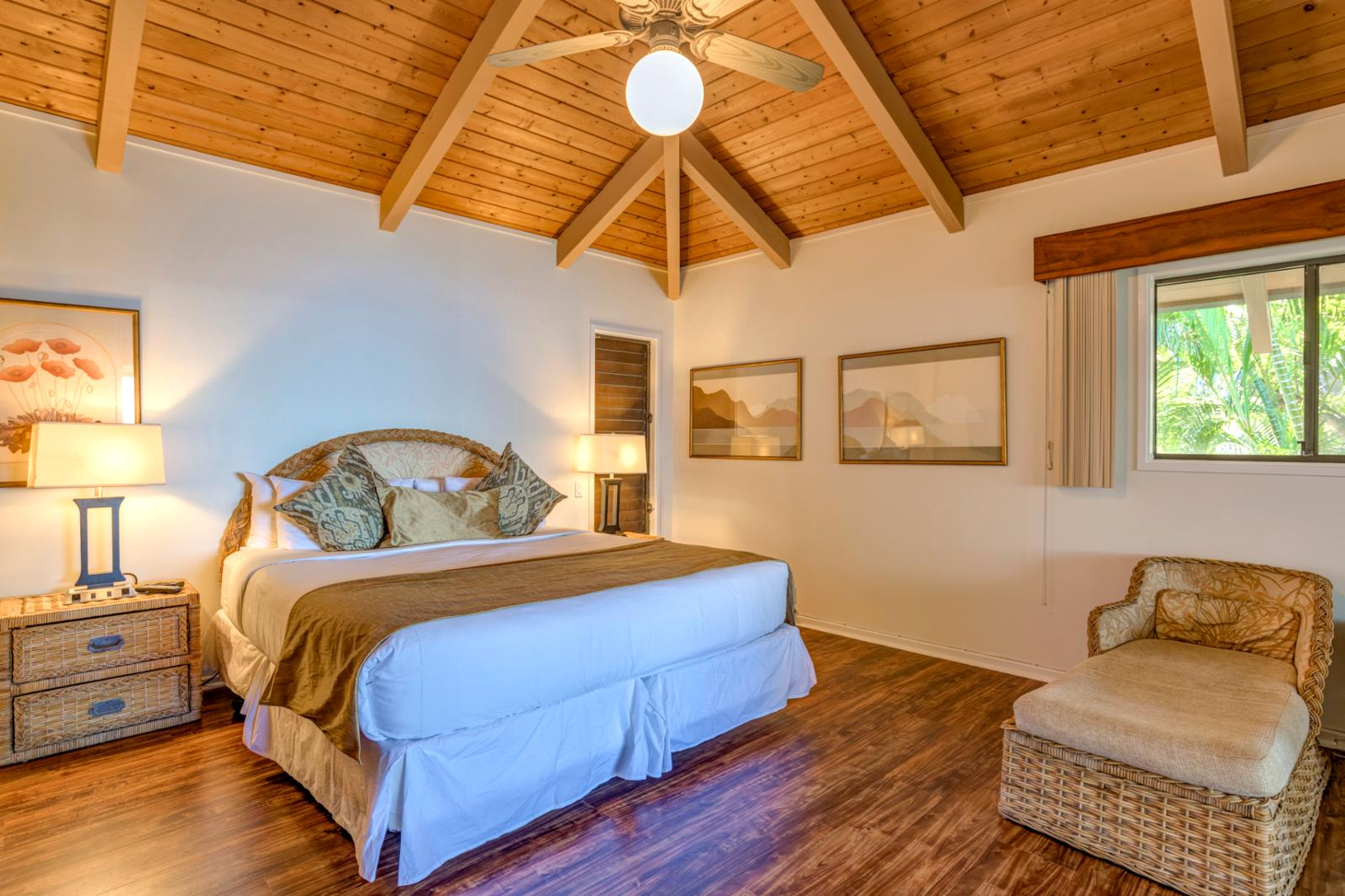 Large comfortable master suite with ocean views