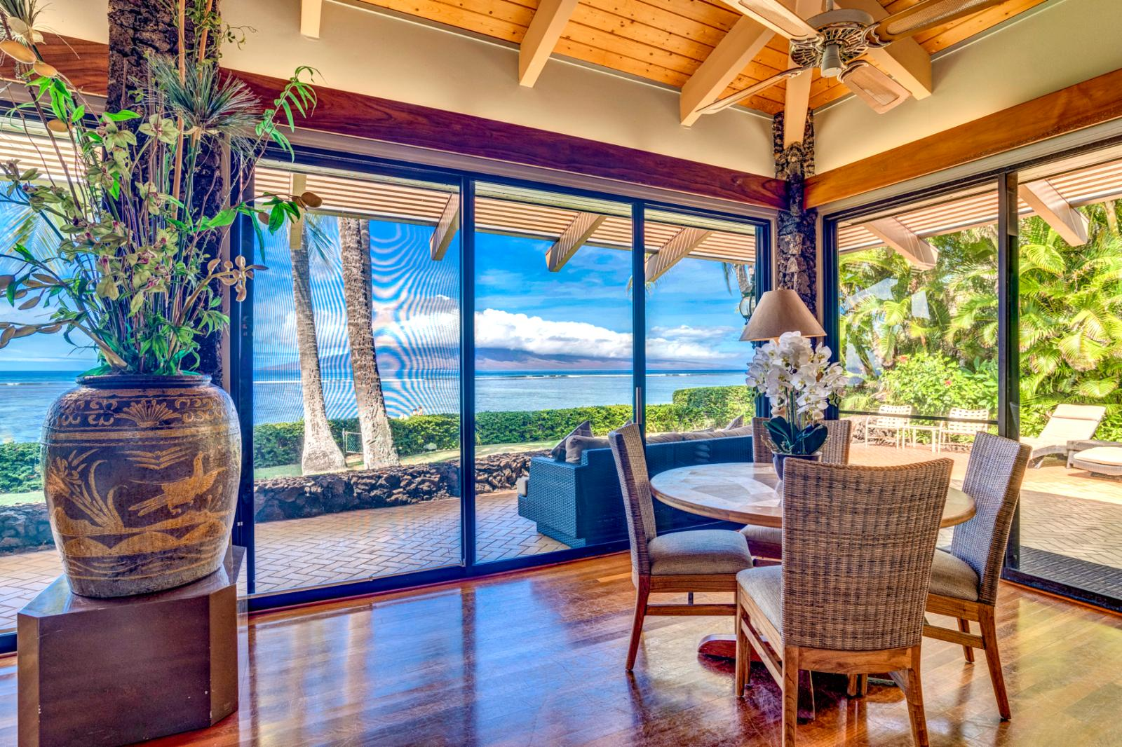 Enjoy the exclusive beach access, just steps from your private Maui home!