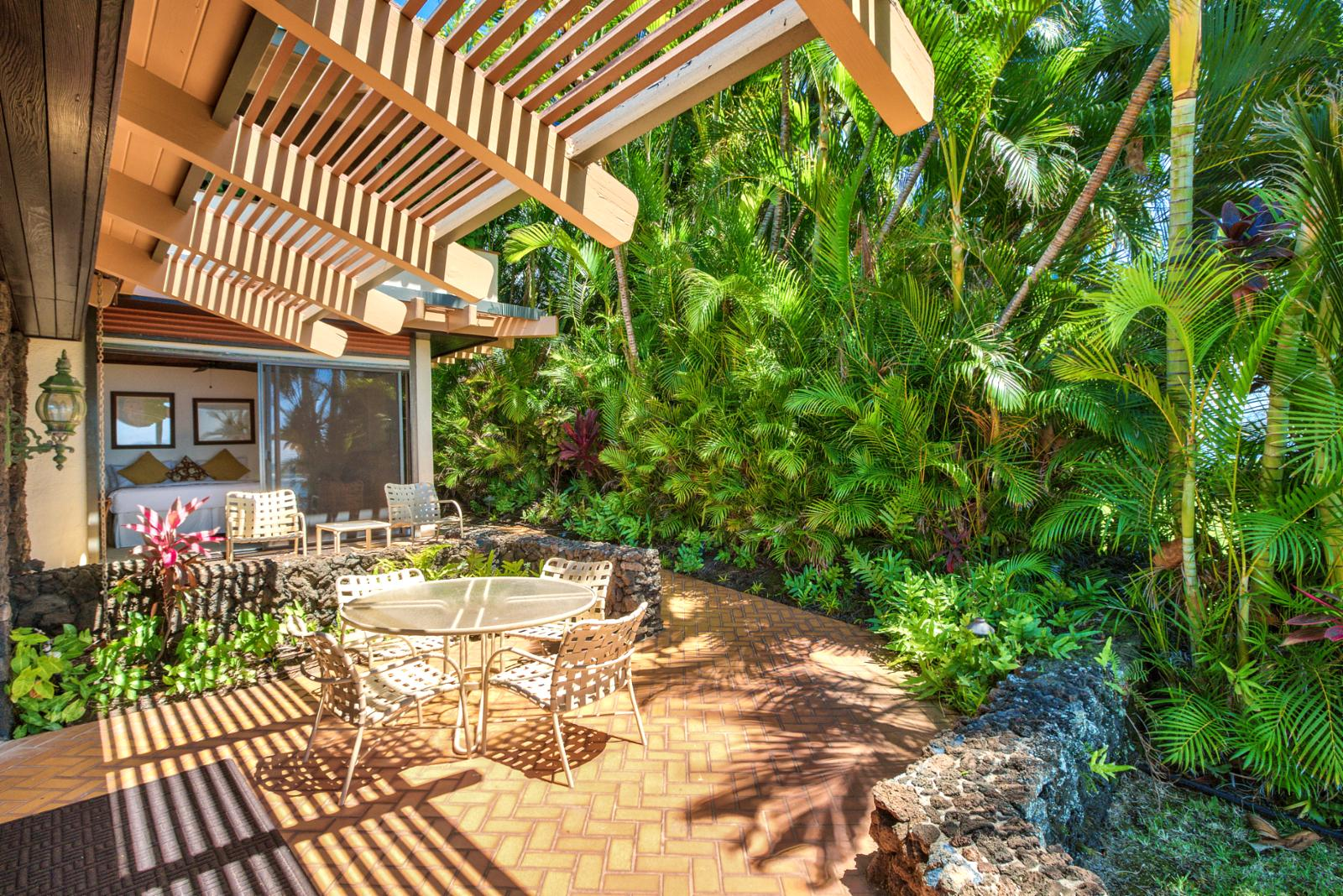 Massive outdoor lanai for perfect relaxation and cool ocean breezes
