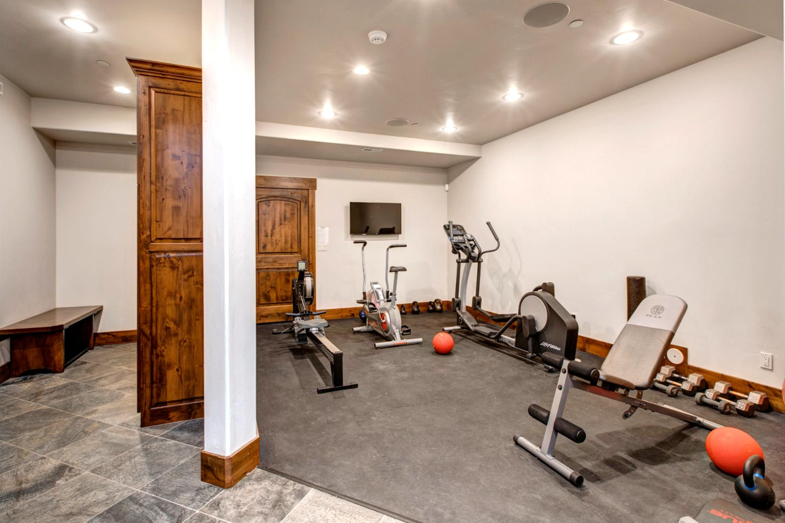 Your own personal work out room will help to get ready for the mountains