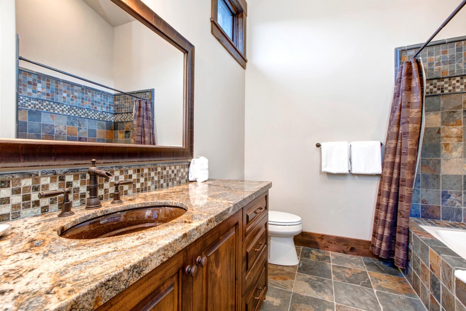 En Suite bathroom for bunk room